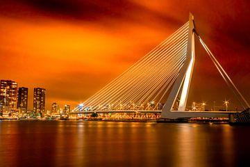 Erasmusbrücke nach Sonnenuntergang von I Should Shutter