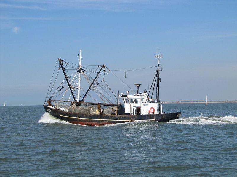 Het zware vissersleven .... van Johan Töpke