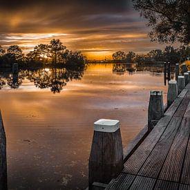 Zonsondergang boven de Vecht bij Het Hemeltje van Xlix Fotografie