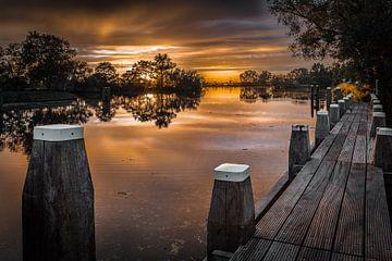 Sunset over the Vecht (river) near Het Hemeltje sur Xlix Fotografie
