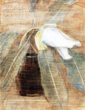 Magnolia knop in een kan, Christian Rohlfs, 1930