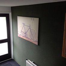 Kundenfoto: Das vintage Rennrad von Martin Bergsma, auf leinwand
