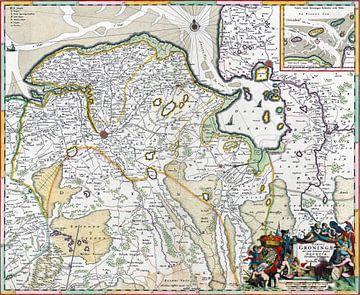Groningen en een deel van Drenthe, Romeyn de Hooghe, 1663 - 1670 van Atelier Liesjes