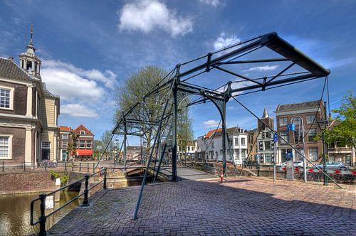 Ophaalbrug in Schiedam van