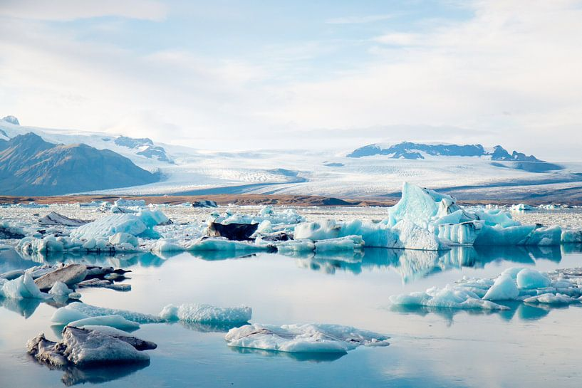 IJsmeer Jökulsárlón in IJsland van Marly Tijhaar