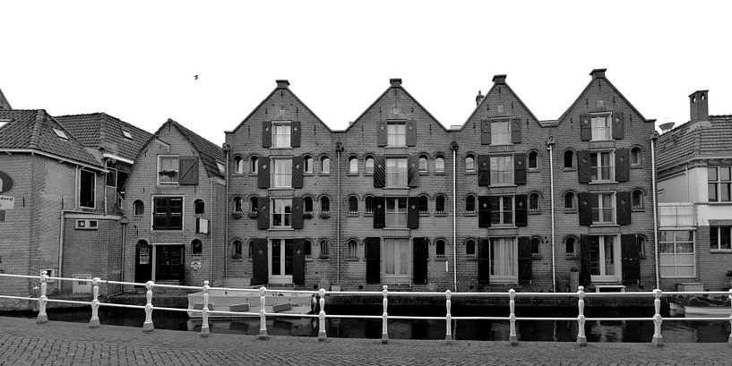 Alkmaar Noord-Holland Zwart Wit Panorama van Hendrik-Jan Kornelis