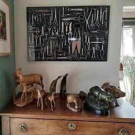 Klantfoto: Verzameling Scharen van Floris Kok, op aluminium