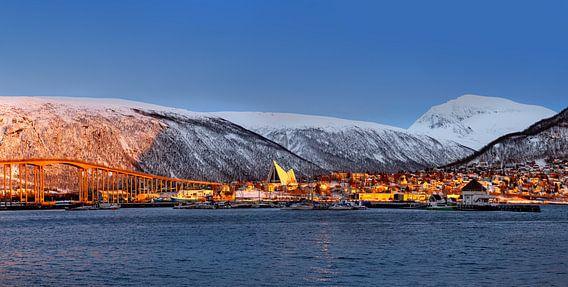 Zonsondergang in Tromsø, Noorwegen