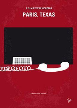 No062 My Paris Texas minimal movie poster van Chungkong Art