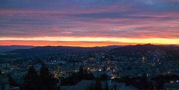 Sonnenuntergang in Manosque (Frankreich) von Joran Maaswinkel