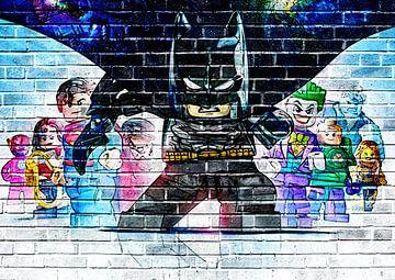 LEGO Batman Wandgraffiti 2 von Bert Hooijer