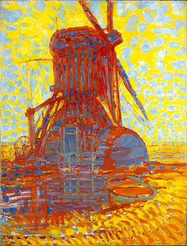 Mühle im Sonnenlicht, Piet Mondrian, 1908 von Atelier Liesjes