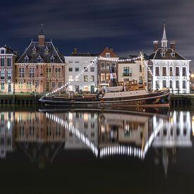 De Kolk in Maassluis met de Stoomzeesleper Furie van MS Fotografie | Marc van der Stelt