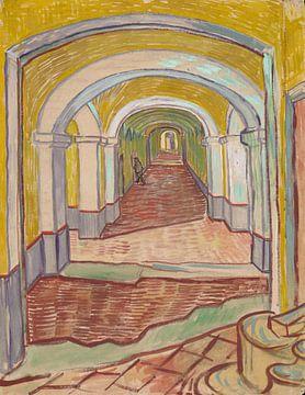 Vincent van Gogh. Corridor in the Asylum von 1000 Schilderijen