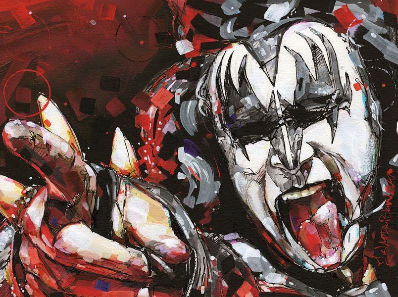 KISS, Gene Simmons kunst van Jos Hoppenbrouwers