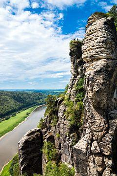 Bastei Rock - Saksisch Zwitserland Elbezandsteengebergte van Reiner Würz / RWFotoArt