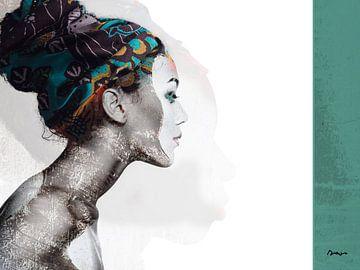 21. Silhouette, Porträt, Frau, Meta. von Alies werk