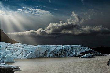 Gletscher auf Island, Ausläufer des Vatnajökull-Gletschers von Gert Hilbink