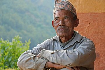 Oude Nepalese man von Marieke Funke