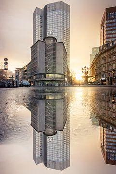 Frankfurt am Main merzedes huis, straat kruising van Fotos by Jan Wehnert