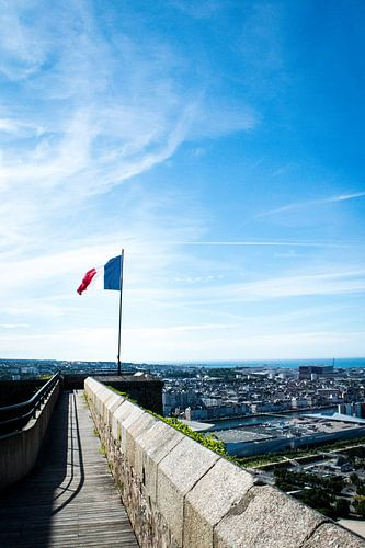 The french proud high above Cherbourg sur