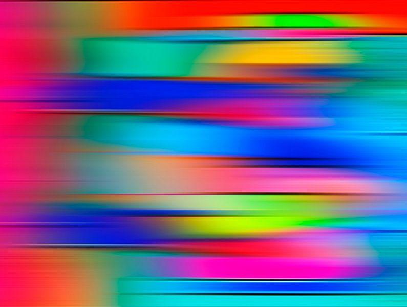 Neon Graphics stripes in blue van Eva van den Hamsvoort