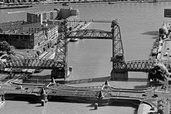 De Hef zwart / wit te Rotterdam