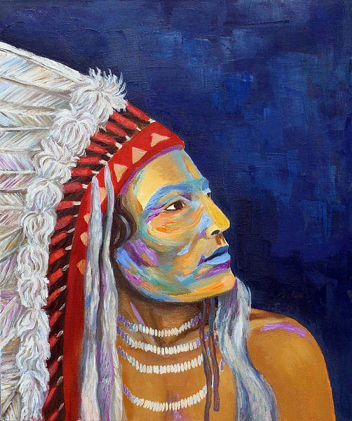 Indianen portret van Anya zoontjes