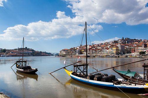 De rivier Douro in Porto van