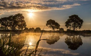 Amstel in het ochtendlicht van Peter Leenen