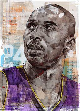 Kobe Bryant, L.A. Lakers Pop Art malerei von Jos Hoppenbrouwers