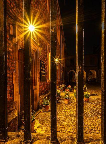 Cambridge (Engeland) Peterhouse 's nachts