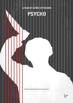 No185 My Psycho minimal movie poster van Chungkong Art
