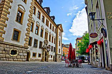 Place de l'hôtel de ville de Ratisbonne avec le Ratskeller historique sur Roith Fotografie