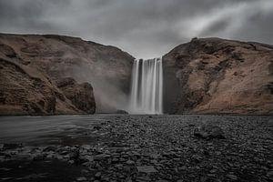 Skogafoss IJsland van
