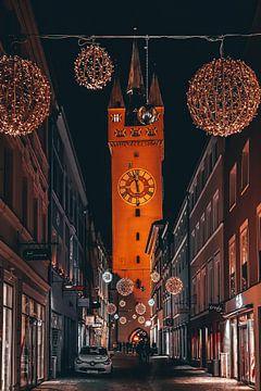 Stad van Straubing Stadstoren van Thilo Wagner