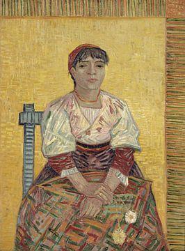 Die italienische Frau – Vincent van Gogh von 1000 Schilderijen