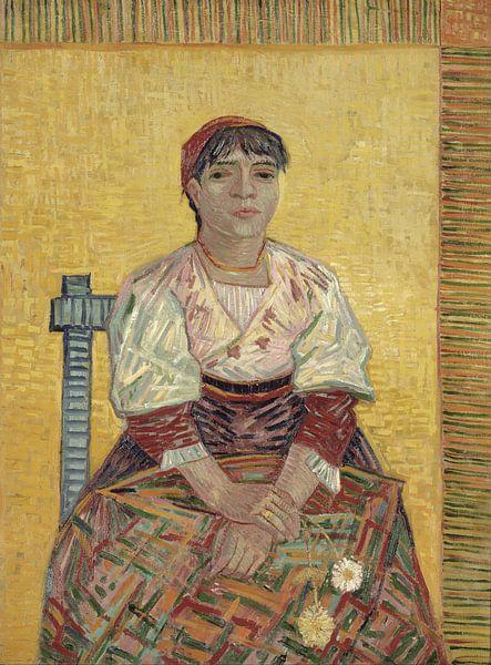 Vincent van Gogh. De Italiaanse vrouw sur 1000 Schilderijen