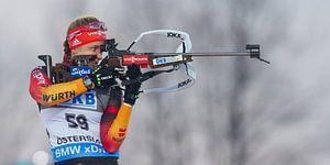 Biathlon in Östersund Zweden van