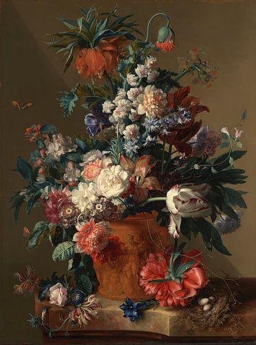 Jan van Huysum - Bloemen in vaas van Het Archief