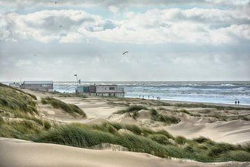 Texel northern beach van
