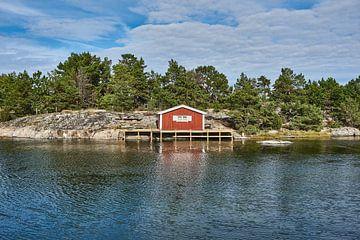 zweeds vissers/zomerhuis aan het water