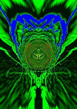 Blümchen abstrakt van Harry Ucksche