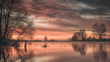 Oranje zonsopkomst van Lex Schulte