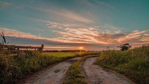 Pad naar de zonsondergang