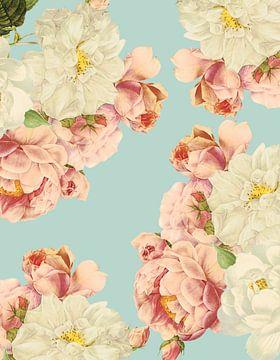 Vintage Sepia Roses van Uta Naumann