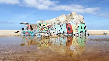 Graffiti bunker van Nathan Marcusse