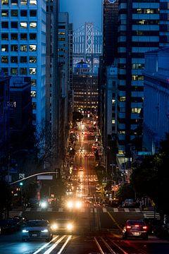 Finanzdistrikt am Abend - San Francisco von Keesnan Dogger Fotografie