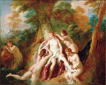 Jean-François de Troy, Diana und ihre Nymphen nehmen ein Bad - 1724 von Atelier Liesjes