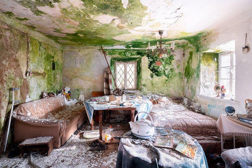Wohnzimmer in Vervalde. von Roman Robroek